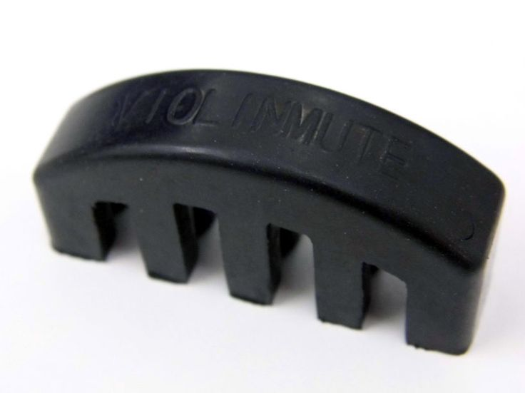 Mute Heavy Rubber Electric Acoustic Violin Silencer Quiet Practice 4/4 Black Practice Mute five-prong reduces volume