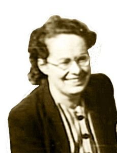 Joan Clarke, MBE, (1919-1996), friend and confidante of Alan Turing, worked at Bletchley Park as an Enigma code breaker.