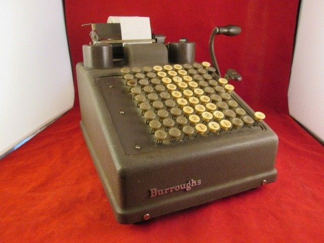 Accountant Bookkeeping Details About Vintage Burroughs Portable Adding Machine