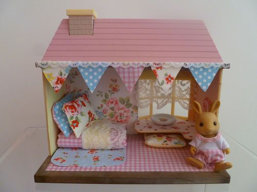 Sylvanian families mini house decorated with Cath Kidston | eBay
