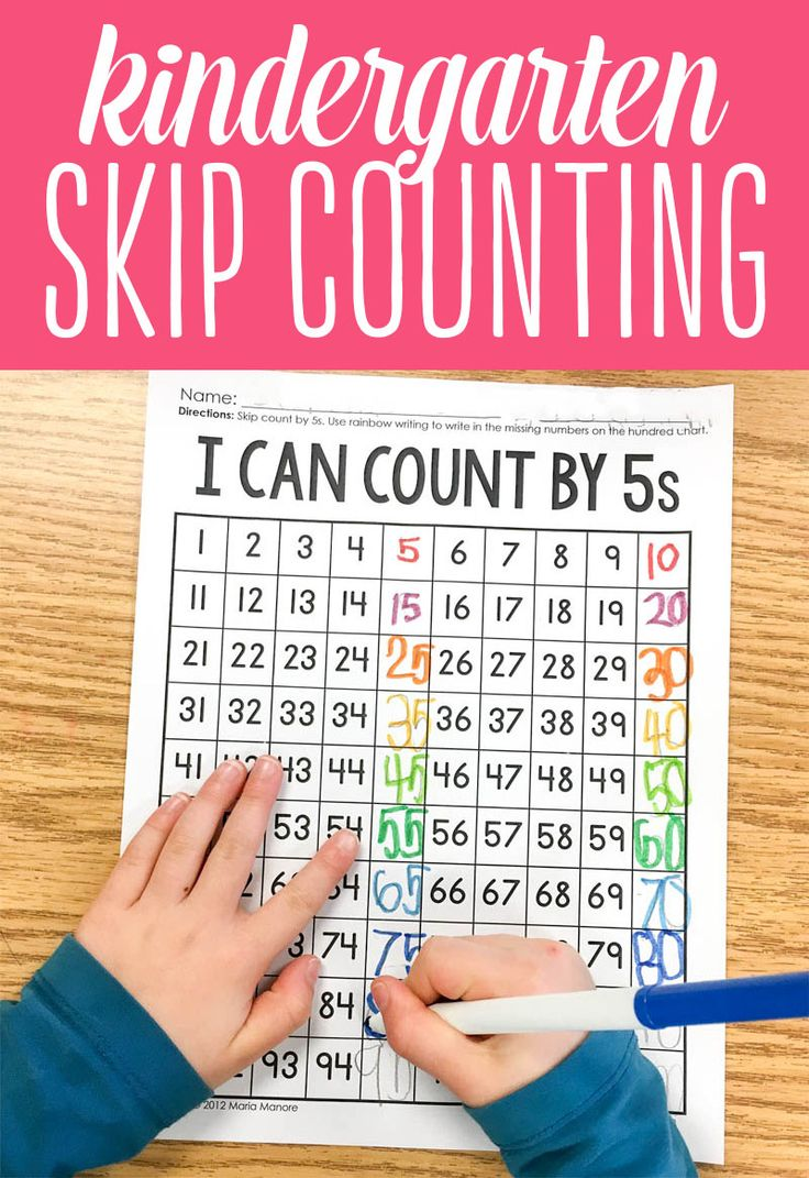 How to teach skip counting in Kindergarten