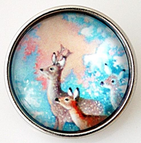 Snaps-Snap-Charm-Reindeer-Holiday-Ginger-Chunk-Interchangeable-Jewelry