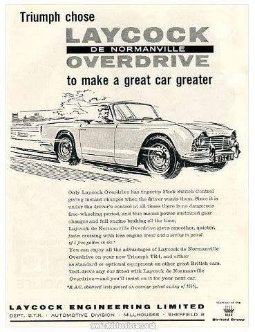 Triumph TR4 - Laycock Overdrive