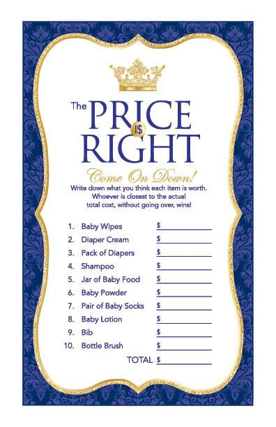 Instant Download Royal Blue Prince Price Is by Studio20Designs