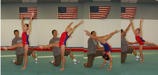 How to Do a Back Walkover in Gymnastics: Back Walkover with a Spot