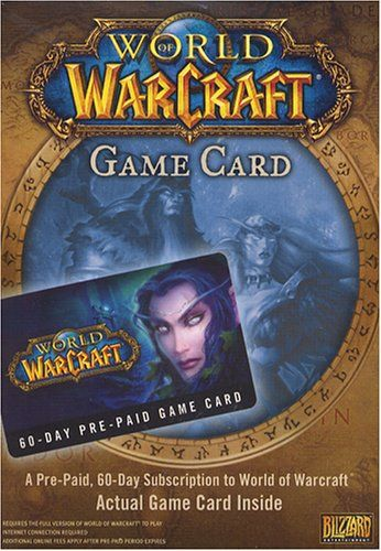 World of Warcraft - A Pre-Paid, 60-Day Subscription to World of Warcraft Requires World of Warcraft Standard Game - Box Contains Game Card Only