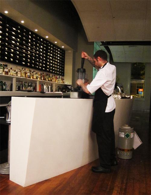 Tom 'formulating' our dessert...