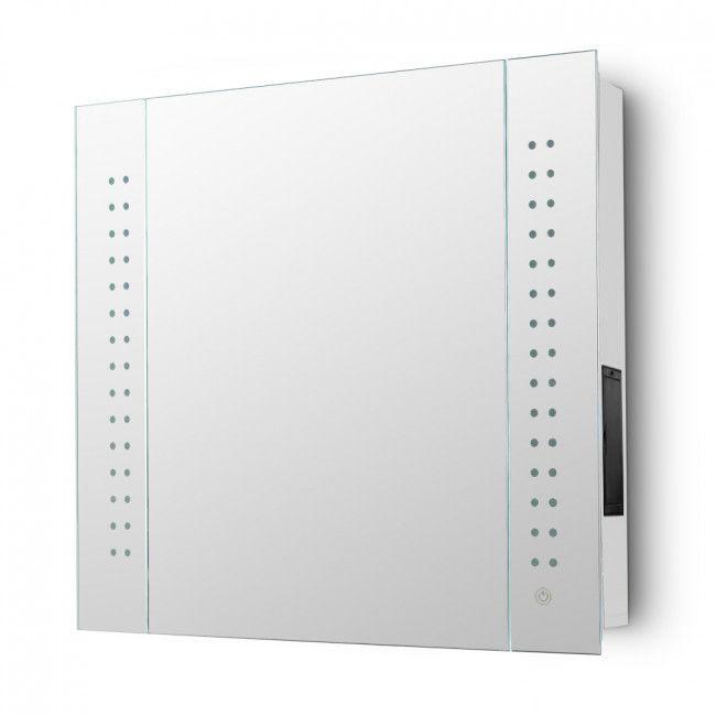 Stellar Battery Operated Light Up Ip44 Bathroom Mirrored Cabinet Mirror Cabinets Bathroom Mirror Cabinet Battery Operated Lights