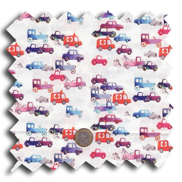 It's not often you see a girly car fabric!  Love this fabric designer Nadia Petremand