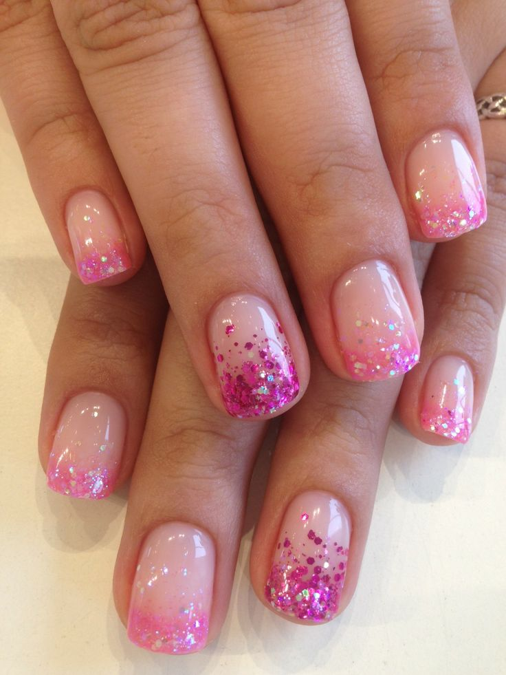 Glitter Nail Trends: Best 25+ Glitter French Tips Ideas On Pinterest