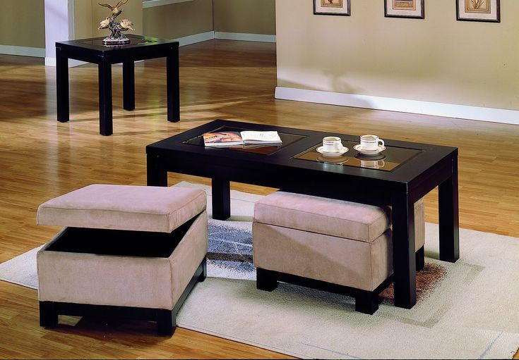Homelegance Symphony Cocktail Table Ottoman Peat Microfiber