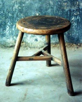 Round Milking Stool with Mortise and Tenon Joinery