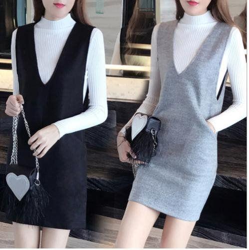 メルカリ商品: 人気 の ミニ ジャンパースカート 薄手セーター カットソー セットアップ #メルカリ