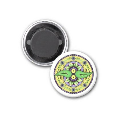 Simple Mandala 2 Magnet - diy cyo customize create your own personalize
