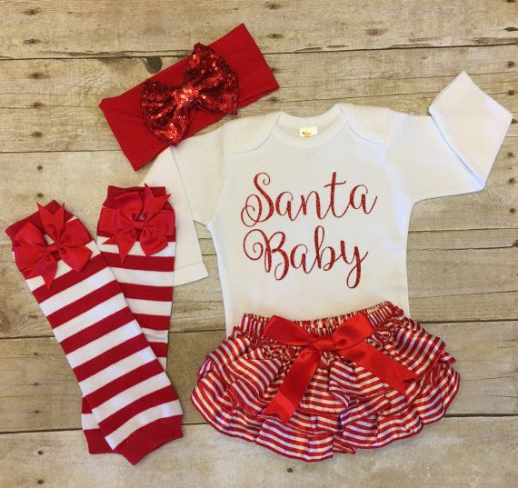 Christmas Outfit Infant Christmas Outfit by KeepsakeKonnections