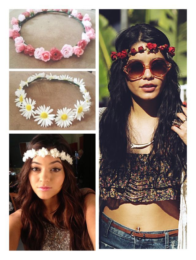 DIY MUST: Flower Headbands! Perfect for spring and summer. Just need fake flowers, different headbands, and a hot glue gun. Everyone will be asking where you got it! ;)
