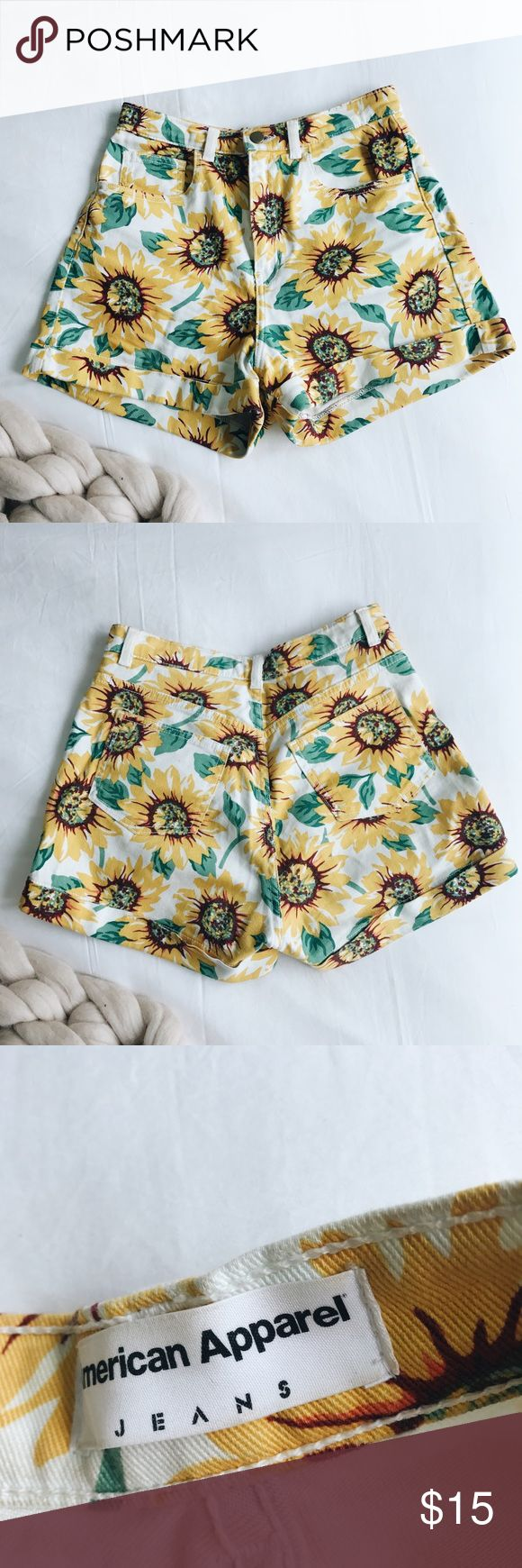 American Apparel Shorts These super cute sunflower shorts are perfect for summer! Only been worn a few times. American Apparel Shorts