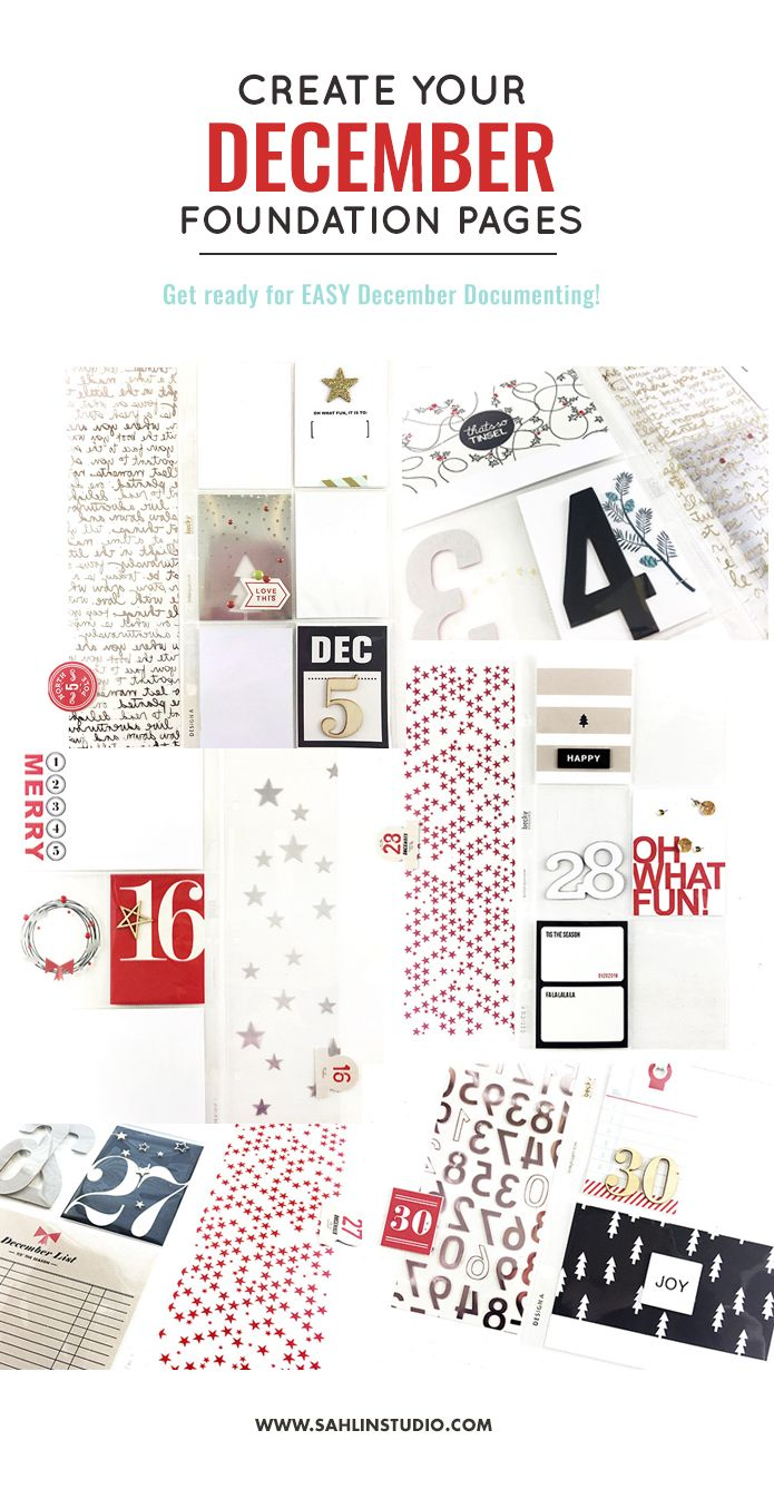 Get Ready for December: Creating Your December Daily Foundation Pages | Theresa Moxley - Larkindesigns + Sahlin Studio