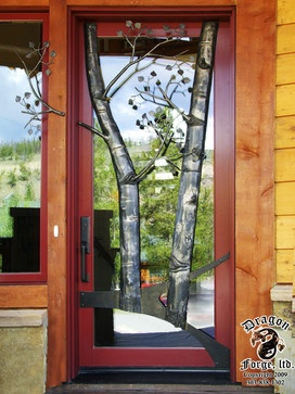 Aspen tree front door modern front doors denver for Door 9 denver