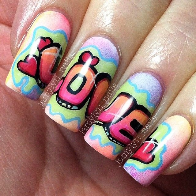 VALENTINE by jamylyn_nails #nail #nails #nailart <3<3<3POP ART<3<3<3