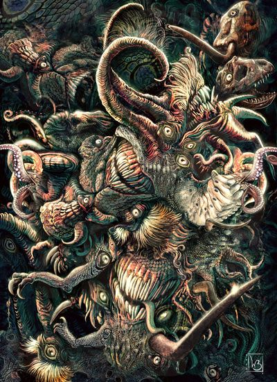 Azathoth art print in the Cthulhu Shop, the shopping guide for cultists www.cthulhushop.com