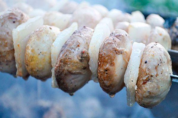 Рецепт: Шашлык из грибов
