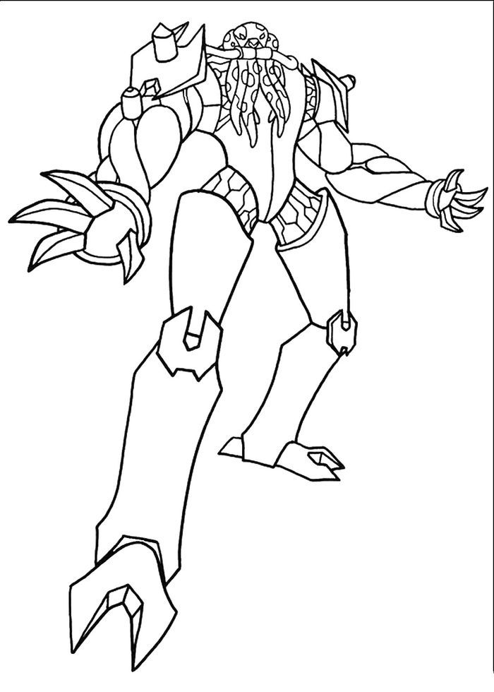 Ben 10 Coloring Pages Grey Matter Online to Printable Colouring ... | 980x700