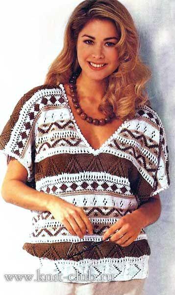 ажурные кофточки спицами для женщин схемы и описание вязания для