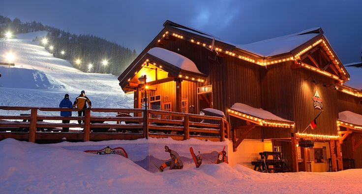 Apex Mountain Resort at night. #explorebc