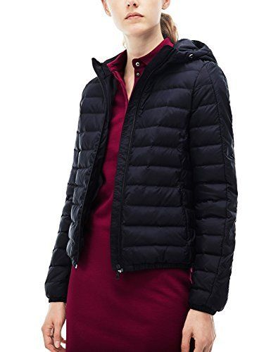 Lacoste women's red hooded quilted jacket, with contrast bands on sleeves, goose down and feather quilting and crocodile branding at the bottom. – Composition: 100% Polyester – Color: Red – Collection: Fall – Winter       Famous Words of...  More details at https://jackets-lovers.bestselleroutlets.com/ladies-coats-jackets-vests/active-performance-ladies-coats-jackets-vests/fleece-active-performance-ladies-coats-jackets-vests