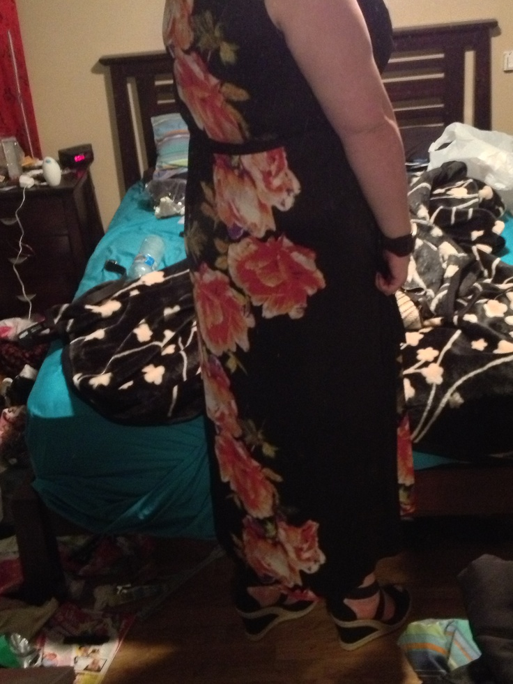 My new city chic dress. Apologies for the messy bedroom
