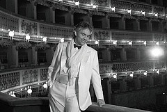 A blind italian man with an amazingly beautiful voice-- Andrea Bocelli