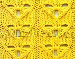 Wonderful #Knitting #Stitch that's a fusion of cable and butterfly stitches - with chart.
