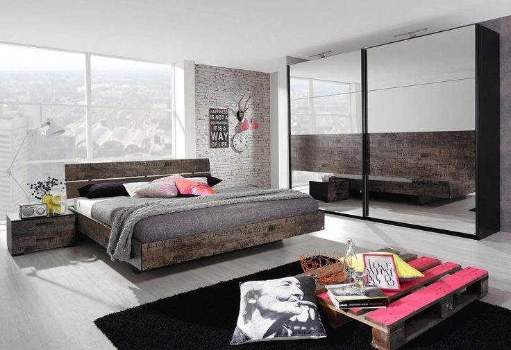 rauch SELECT Bett ab 269,99€. Topaktuell: Industriedesign im Used-Look, Holzoptik mit Designaufdrucken und schwarzen Absetzungen bei OTTO