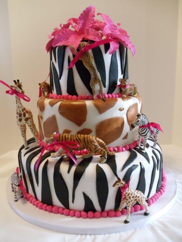 Safari Baby Shower Cake Girl Baby To Be Pinterest