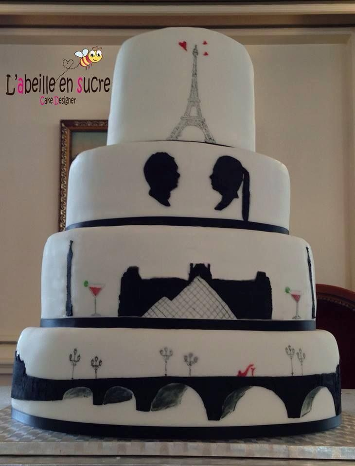 paris wedding cake with real sade face g teau de mariage. Black Bedroom Furniture Sets. Home Design Ideas
