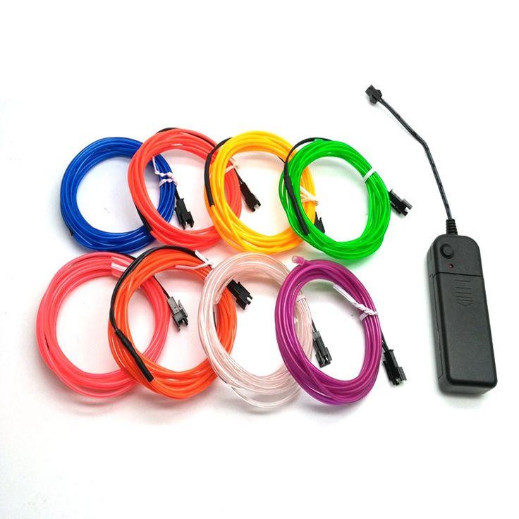 1メートル/2メートル/3メートル/5メートルネオンライトダンスパーティーの装飾ライトネオンledランプ柔軟なelワイヤーロープ·チューブ防水ledストリップでコントローラ