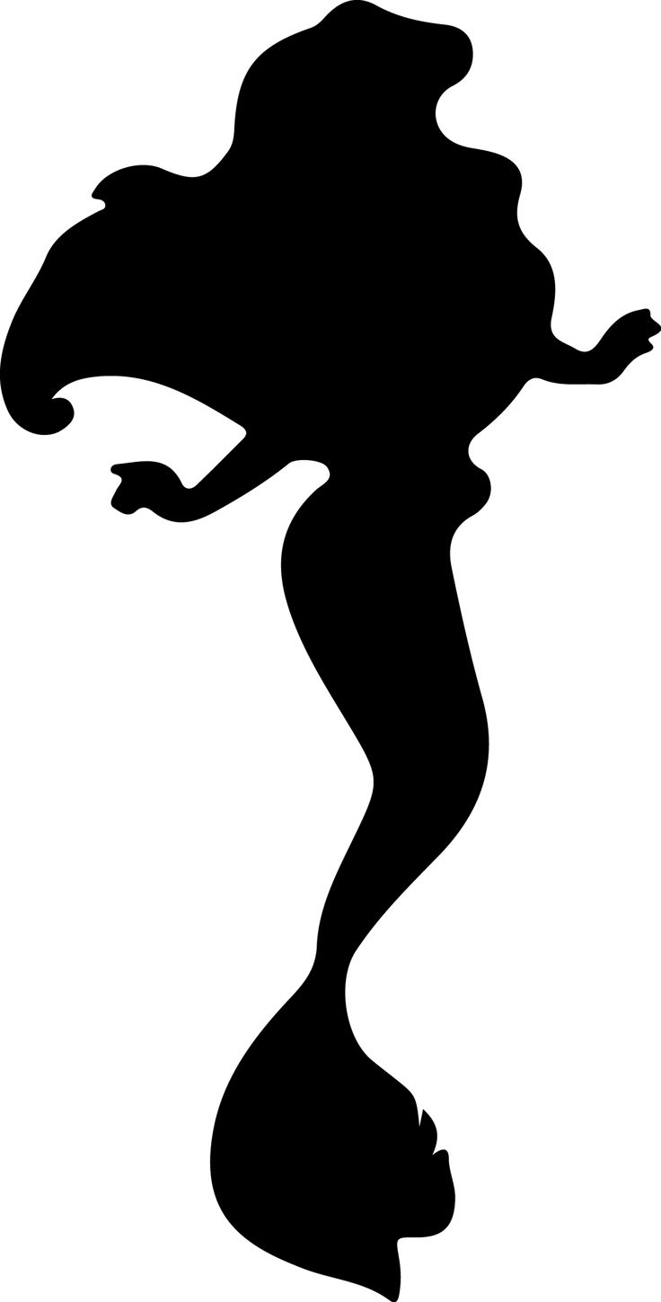 disney princess silhouettes black and white - Google Search