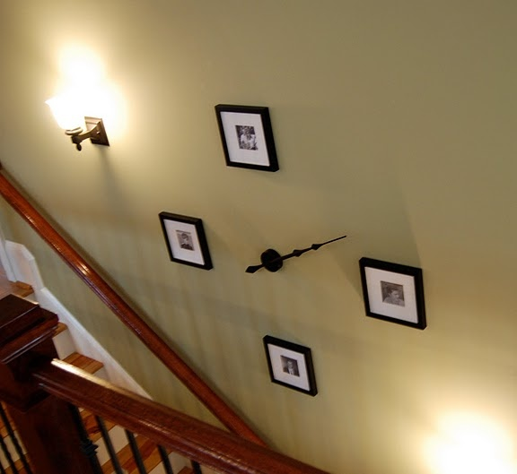 wall idea for my huge wall on my staircase however i would use bigger