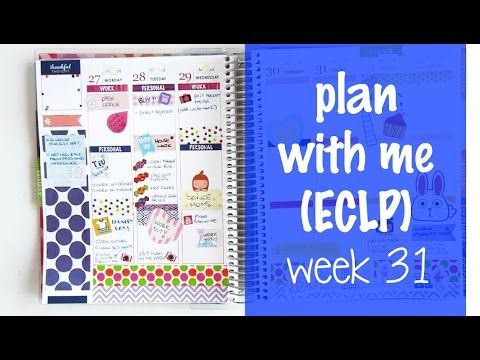 Plan with me in my ECLP!   Week 31