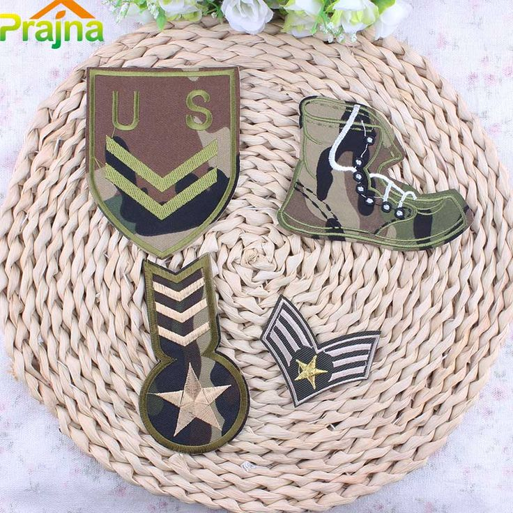 Hot Sale Cheap Flag Military Patch Applique Biker Embroidered Patches For Clothes Iron On Stickers Badges For Clothing #Affiliate