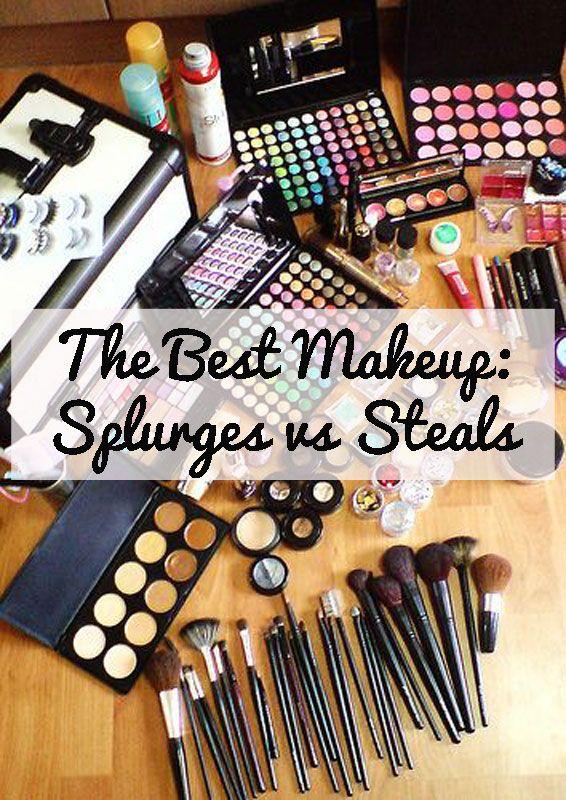 The Best Makeup: Splurges vs Steals!