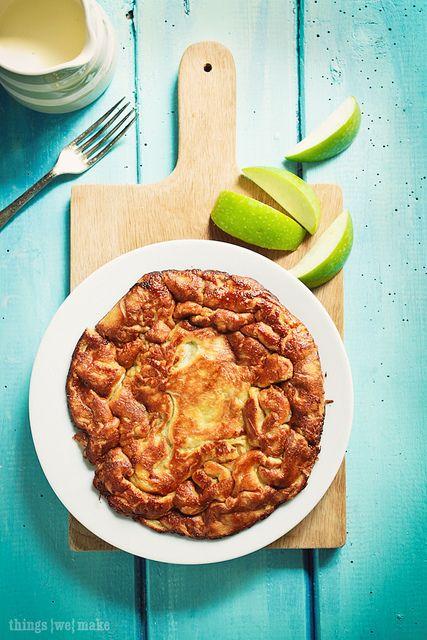 Caramel apple cloud pancake
