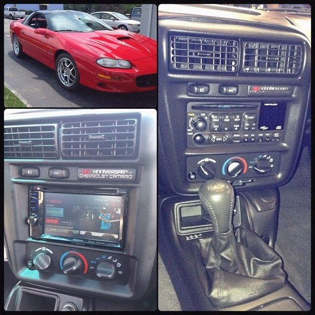 Metra's new kit now allows for a double din in 97-02 Camaros! Just finished this beauty today with a Kenwood mirror link capable multimedia unit.  Interested in a remote car starter or upgraded car audio system? View our profile for our contact information & give one of our team members a call today. #richmondva #757 #richmond #chesapeakeva #23113 #honda #luxurycar #kia #remotestarter #acura