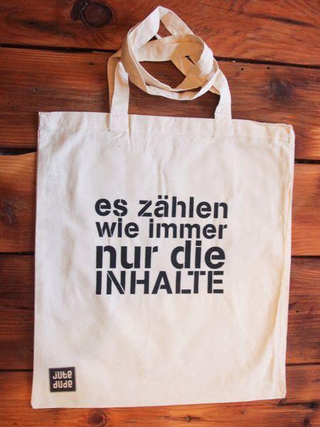 Inhalte zählen Jutebeutel // tote bag by lutzepeter via dawanda.com