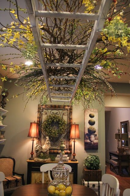 I'm obsessed with the ladder canopy! Tuscan inspired home tour in the Pacific Northwest - Debbiedoo's