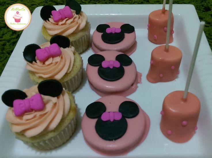 cupcakes alfajores marshpop´s minnie