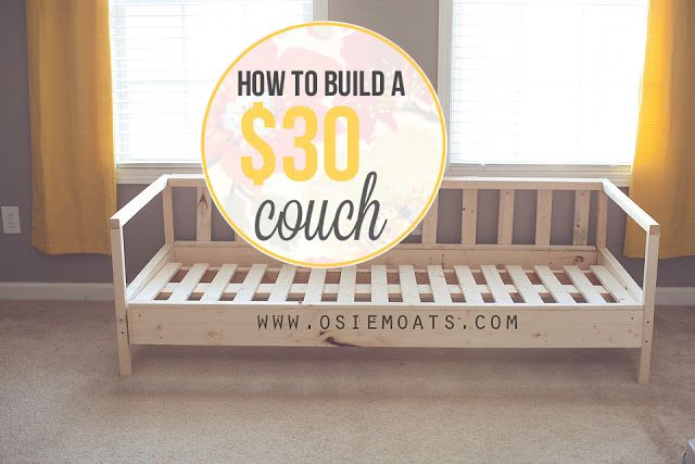How to build a $30 couch. www.osiemoats.com #furniture #diy #couch #osiemoats
