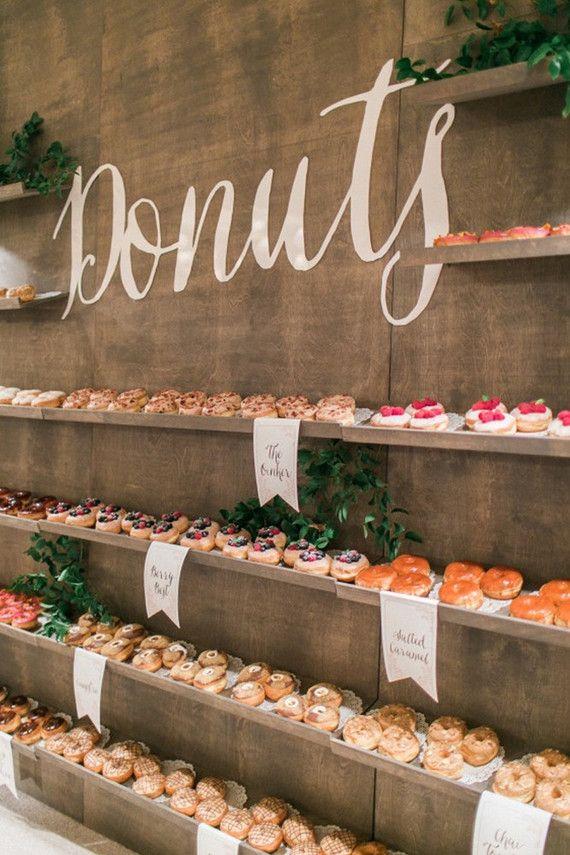 Barra libre de donuts para bodas