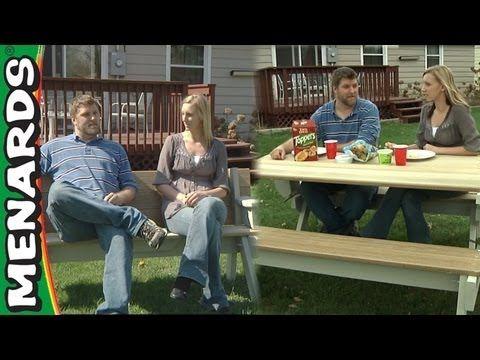 Folding Picnic Table & Bench - Menards - YouTube